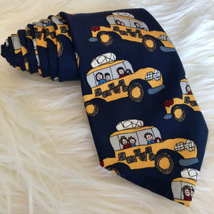 90s Yellow Cab Taxi Neck Tie Vintage